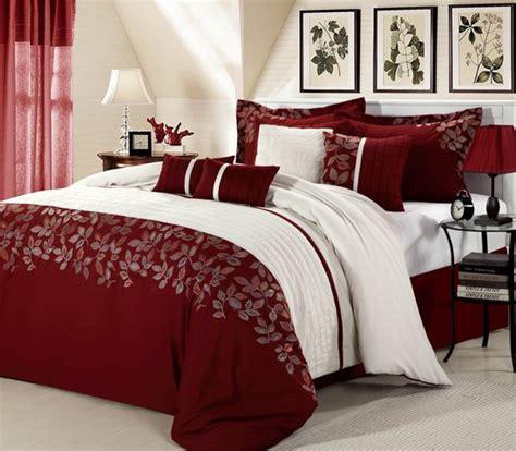 Asian Duvet Cover Pinceladas De Rojo Burdeos En El Dormitorio