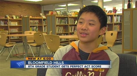 Score Of Seventh Class 4 bloomfield 8th grader gets score on act wxyz
