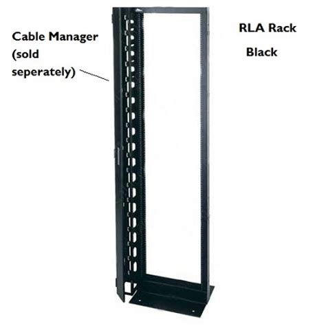 Two Post Rack by Middle Atlantic Rla Series Aluminum Two Post Open Frame Rack