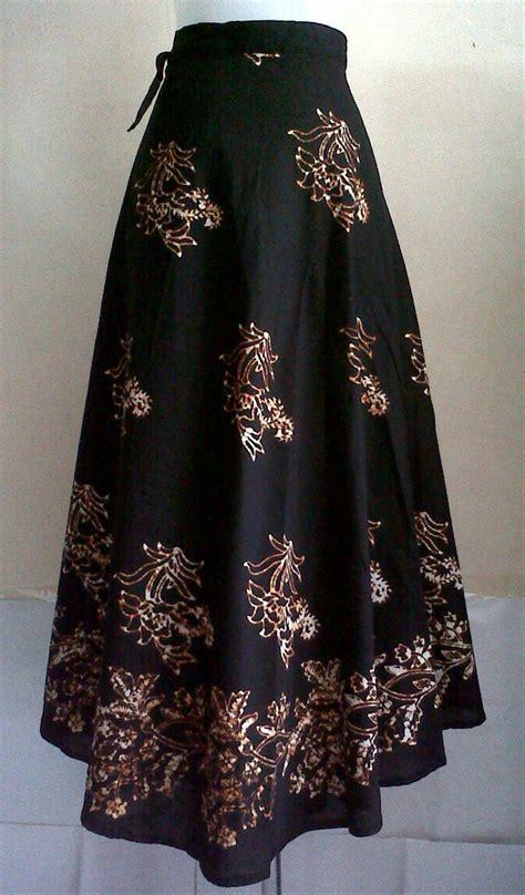 jual rok lilit batik sogan rok lilit batik hitam panjang