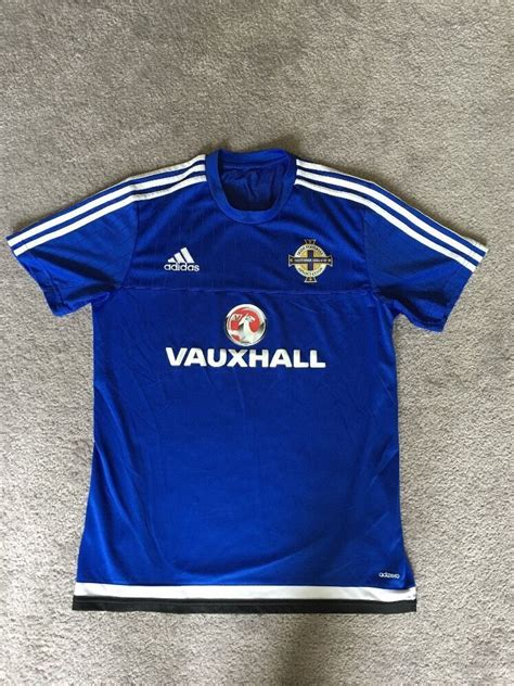 adidas  northern ireland training football soccer shirt   size large