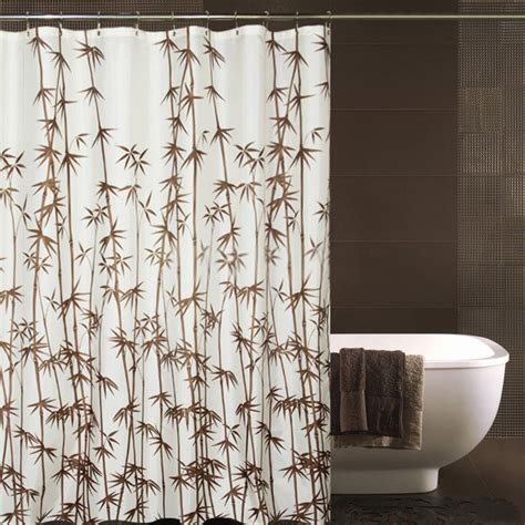 Beautiful Shower Curtains by Shower Curtains Designed Of Beautiful Bamboo Patterns