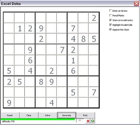 sudoku printable excel sudoku generator and solver desktop liberation
