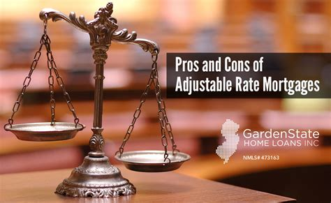 pros and cons of adjustable rate mortgages garden state