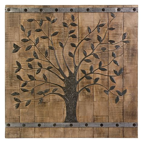 wooden wall decor panels imax tree of wood wall panel 36w x 36h in wall
