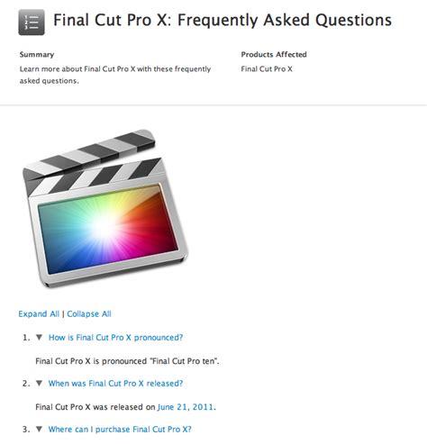 final cut pro news apple tells you how to pronounce final cut pro x