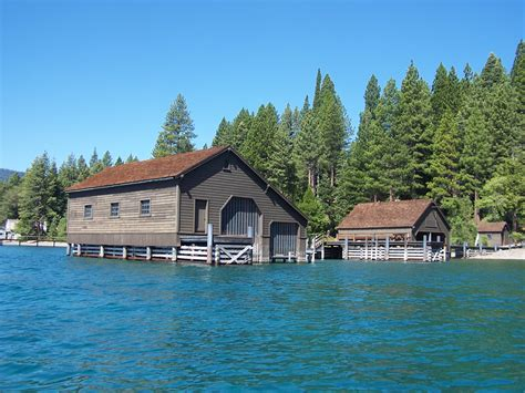 boat house lake tahoe west shore lakefront estate with pier and two boat houses