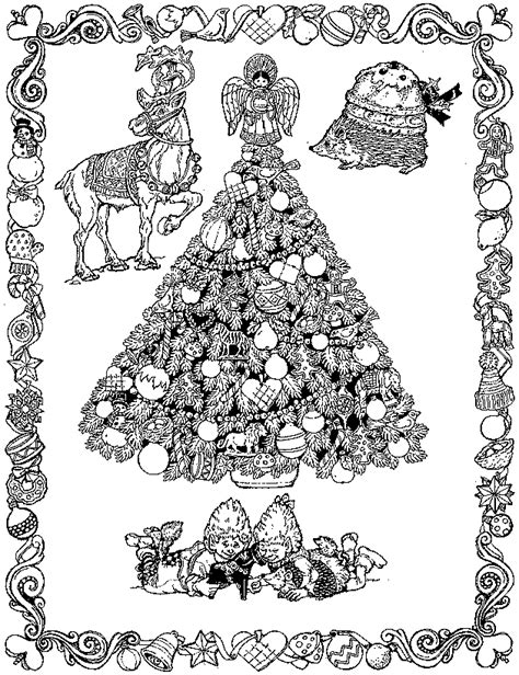 hard christmas tree coloring pages christmas coloring page