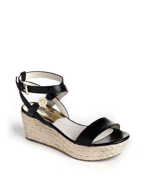 michael kors platform wedge sandals michael michael kors jalita charm leather platform wedge