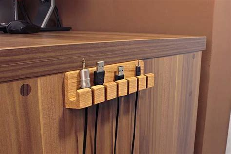 cable rack for desk the handmade wooden desk cable organizer i want