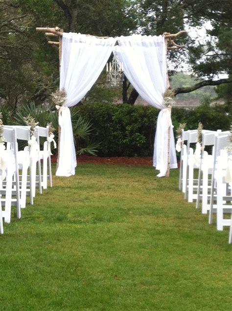 wedding arbor fabric aspen wedding arbor with fabric curtains on lawn design by