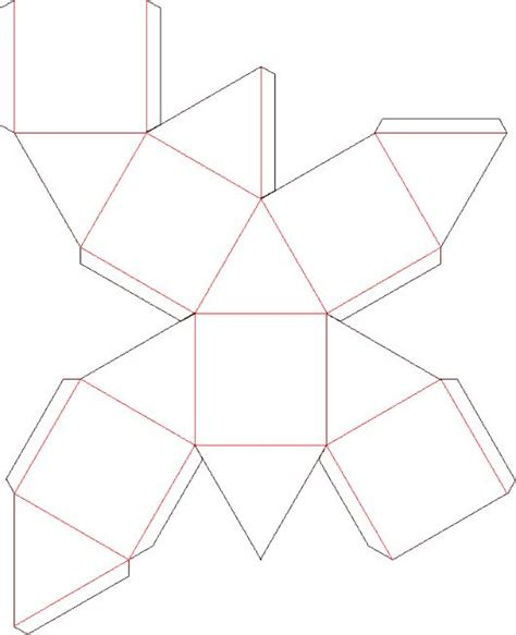 Origami Templates Printable - octaedron template dyi boxes packaging wrapping