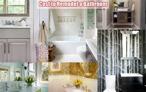 what does it cost to remodel a bathroom bathroom remodel cost everything you need to know