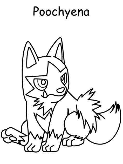 pokemon coloring pages poochyena kids n fun com 99 coloring pages of pokemon