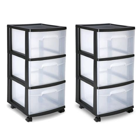 3 drawer plastic storage cart sterilite 3 drawer cart storage plastic box organizer