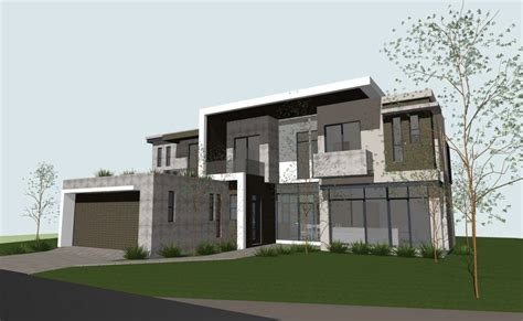 modern concrete block house plans