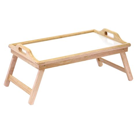 bed trays winsome wood breakfast bed tray with handle by oj commerce 98122a 23 07