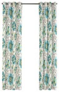 Aqua Blue Curtains Aqua Blue Suzani Grommet Curtain Modern Curtains By Loom Decor