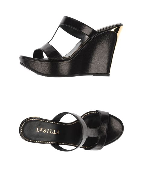 silla shoes le silla sandals in black lyst
