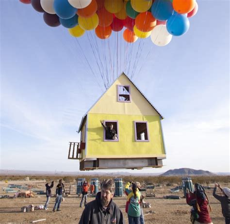 real life up house pixar quot up quot house created in real life and flown home design and interior