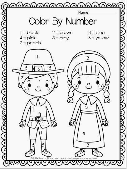 Thanksgiving Printables Thanksgiving For Kids And Color Thanksgiving Color By Number Pages