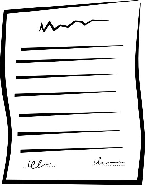 Agreement Clipart signed document contract clip at clker vector