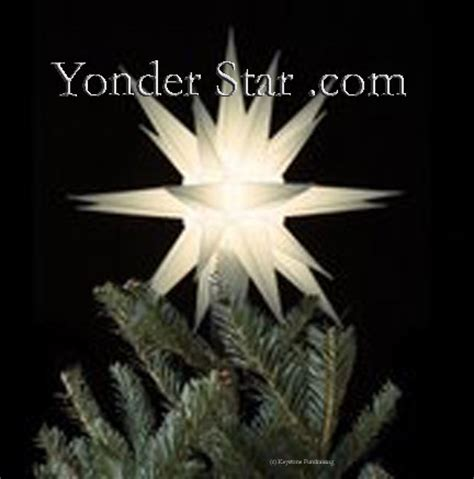12 quot moravian star tree topper white lighted