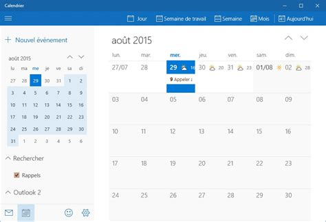 Calendrier Windows 10 Windows 10 L Application Calendrier M 233 Diaforma