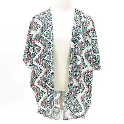 geometric pattern kimono geometric pattern print short sleeve kimono cardigan