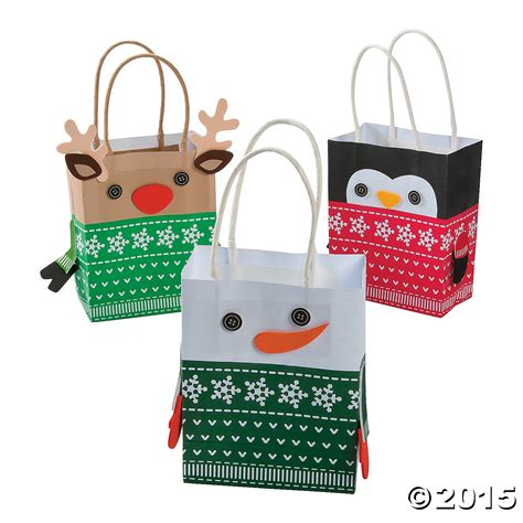 craft bags sweater character gift bag craft kit 12 pk