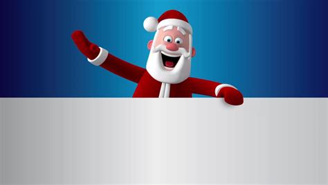 How To Make A 3d Santa Out Of Paper - santa looks out of paper 3d animation greeting