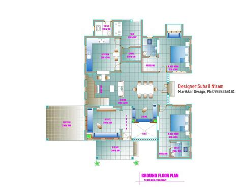 kerala home design one floor plan modern kerala house plan 2700 sq ft