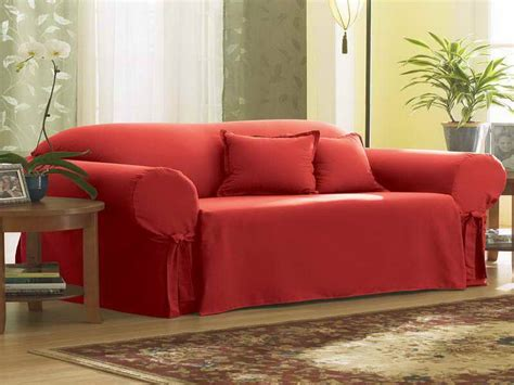 Furniture Best Red Linen Couch Covers How To Choose Best