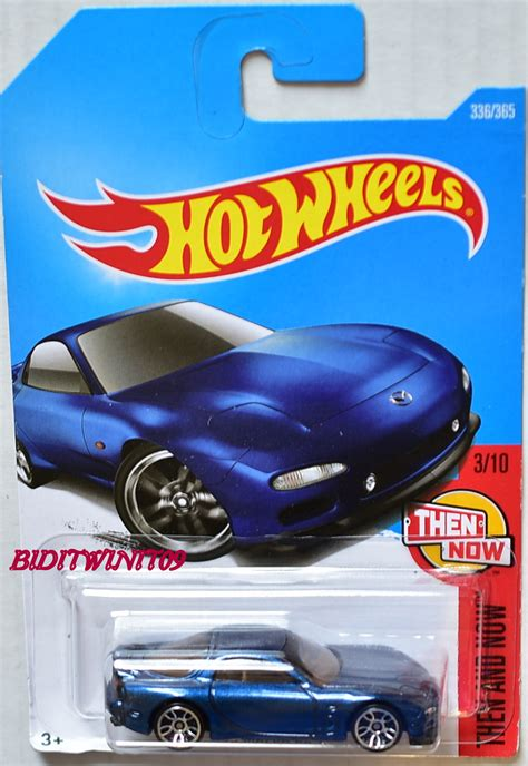 Wheels 95 Mazda Rx 7 Rx7 Hotwheels Biru Hw Blue wheels 2017 then and now 95 mazda rx 7 3 10 0002554