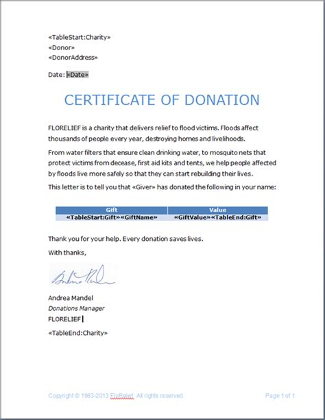 best photos of charitable donation letter template