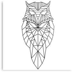 Unisex Gift Ideas quot geometric owl quot metal prints by harveyparker redbubble