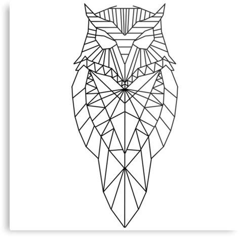 quot geometric owl quot metal prints by harveyparker redbubble