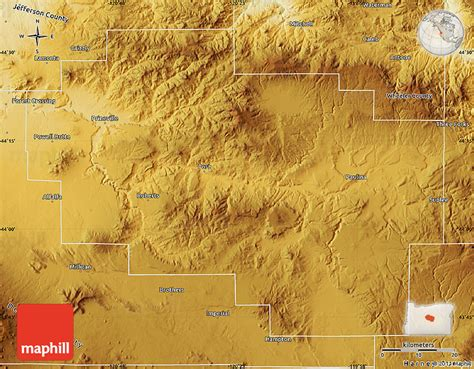 a physical map of oregon physical map of crook county