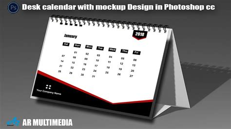 how to make a desk calendar in photoshop desk calendar in photoshop cc 2018 with mockup design