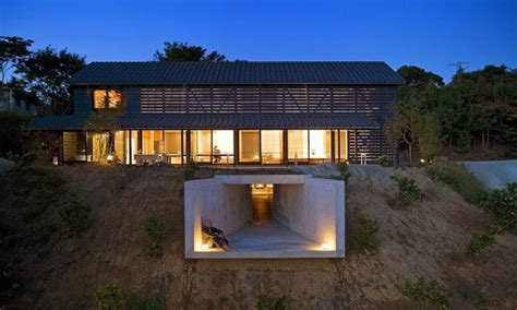 underground barn plans barn balcony house underground modern japanese style house plans