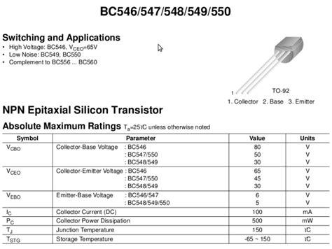 bc547 transistor specs transistor bc547 datasheet npn 28 images bc547 buyhere22 bc547 npn switching transistor