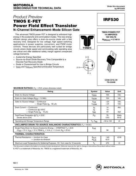 transistor fet funzionamento irf530 n channel fet datasheet electronic component datasheets