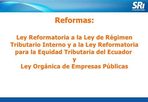 ley organica de regimen tributario interno de ecuador 2015 sri contabilidad gubernamental