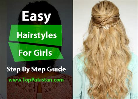 hairstyles to do at home step by step easy hairstyle step by step guide www pixshark com