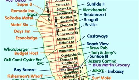 south padre island map south padre island news and information maps