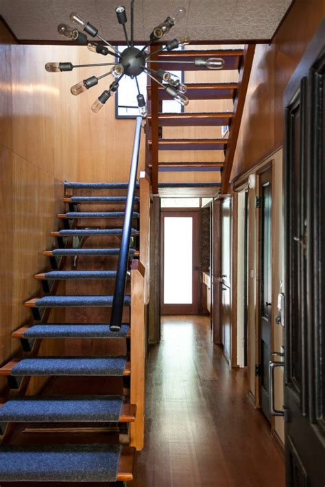 outstanding mid century modern staircase designs