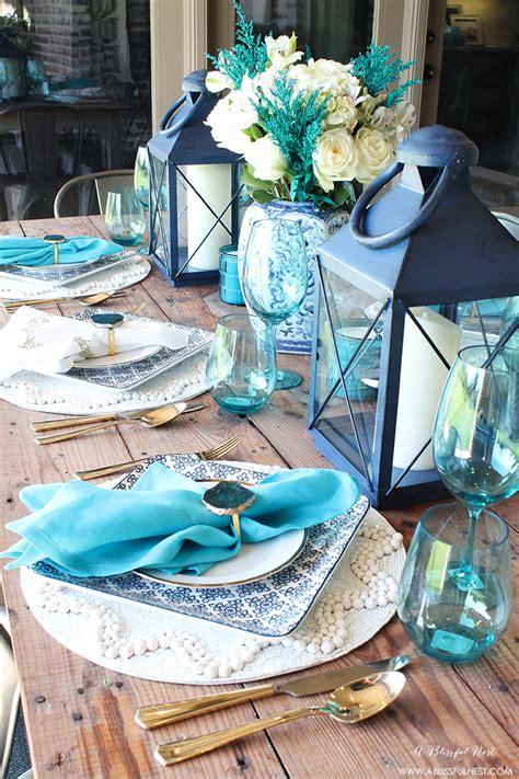 coastal decor table coastal table decor ideas for the summer