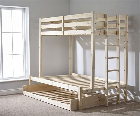 Strictly Beds And Bunks Strictly Beds Duke 4ft 6 Sleeper Bunk Bed With Trundle Underbed