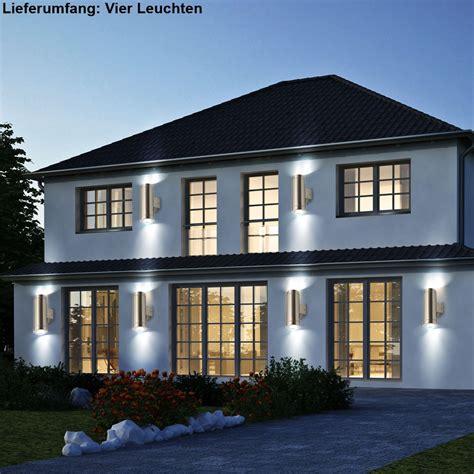 terrassen wandleuchte design 4er set led au 223 en up le garten terrassen