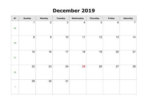 december  printable calendar create  calendar